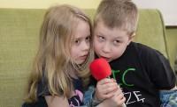 Weronika i Maks na warsztatach dla dzieci