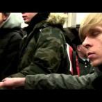 "Flashmob ""Last Christmas"" w Metrze"