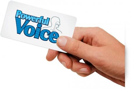 wizytówka Powerful Voice