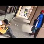 Spontaniczny jam session na ulicach USA
