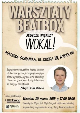 warsztaty beatbox Wrocław Jeszcze Większy Wokal